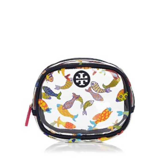 0ff10561c403 NWT! TORY BURCH Fish-Print Cosmetic Bag